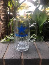 "Dallas Cowboys 32 oz. 8"" Tall - Glass Drinking Mug, Local Pick Up Ok"
