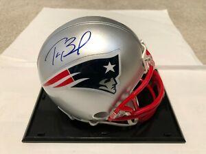 Tom Brady Mini Helmet Signed Autographed COA NE Patriots Mint Cond With Case
