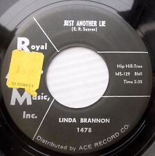 LINDA BRANNON rockabilly vg cond. 45 JUST ANOTHER LIE b/w WHEREVER YOU ARE F1328