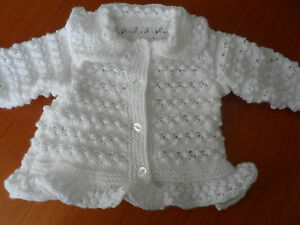 Hand knitted baby girl cardigan 0-6 months - 2-3 years