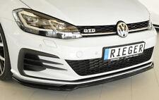 Rieger CUP Spoilerlippe SCHWARZ für VW Golf 7 GTI GTD GTE FL Frontspoiler Lippe