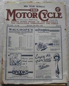 Motor Cycle 13 Jul 1922 Motorcycle Magazine P&M Test Jupp Brooklands MCC