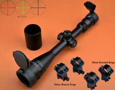 Eagle 4-16x50 AO R/G Turrets W/Lock/Reset Mil Dot Riflescope W/2 Kinds of Rings