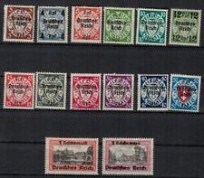 DR 1939 Mi. Nr.: 716-729 postfrischer  Satz mit Falzresten, Freimarken Danzig