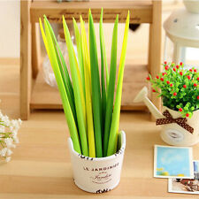 12pcs Grass Leaf Grass-Blade Pen Stationery Sign Pen Good Mood In Work And Study