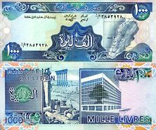 Lebanon 1000 Livres Banknote World Paper Money Unc Currency Pick p69a 1988 Bill