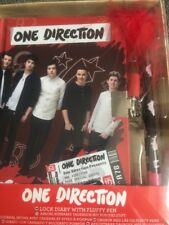 ONE DIRECTION Hardback Diary Padlock 2 Keys And Fluffy Pen Any Year New