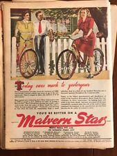 Original Malvern Star bicycles 1940s Vintage Print Advertising Australiana iii