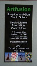 Artfusion Sculpture And Glass Studio Gallery 9 Anderson Rise Vic Brochure