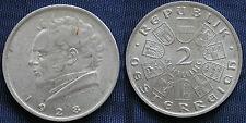 MONETA COIN AUSTRIA REPUBLIK ÖSTERREICH 2 SCHILLING 1928 ARGENTO SILVER SILBER