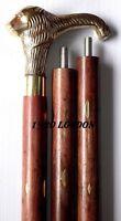 Antique Brass Lion Designer Handle Wooden Walking Stick Designer Vintage Cane