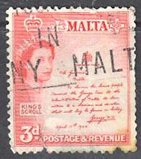 Malta - 3d Queen Elizabeth II 1956 Used