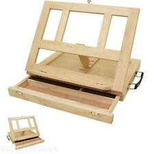 Painting Easel Board - Adjustable Desk Box Portable Mini Wood Drawing Table New