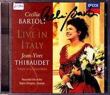 Cecilia Bartoli SIGNED LIVE IN ITALY 1998 Jean Yves Thibaudet Caccini Bizet CD