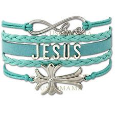 JESUS CHRISTIAN CROSS awareness charm BRACELET gift bangle new jewellery AB20