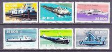 Germany DDR 2221-26 MNH 1981 River Boats Tug Boats Freighter Dredger Set VF