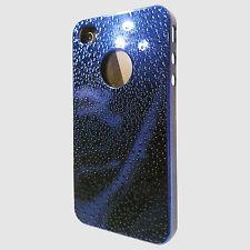 PRO-TEC XPRESSION HARD SHELL CLIP ON CASE FOR IPHONE 4 & 4S BLUE METALLIC RAIN