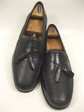 BRASSBOOT Men's Leather Moc Toe Tassel Loafers Pebble Grain Size 11 M