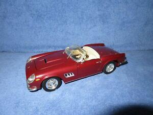 PARTS REPR PROJECT DIORAMA FERRARI 250 GT CALIF SPIDER 1:18 HOT WHEELS, DAMAGE