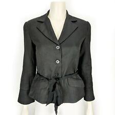 Trina Turk Women's Black Long Sleeve Jacket Blazer w/ Tie Closure Size: 2 Career