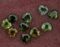ONE 3mm Green Heart Tourmaline Gem Stone Gemstone Natural