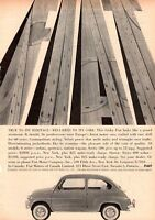 1960 FIAT Series 600-D Sedan 2-Door PRINT AD