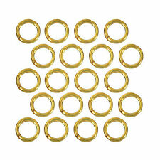 (20) 22k Gold Plated Open Jump Rings 6mm Diameter 18 Gauge Jewelry Beading