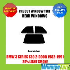 BMW 3er E30 2 Türen 1982-1991 35% Licht hinten Vorgeschnittene Scheibentönung