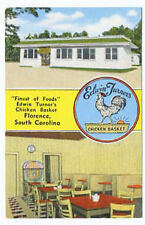 Florence Sc Edwin Turner Chicken Basket Restaurant Juke Box Postcard