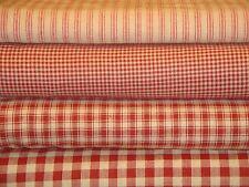 Red Homespun Fabric Fat Quarter Bundle Of 4