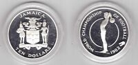 JAMAICA - SILVER PROOF 10$ COIN 1982 YEAR KM#98 SPAIN FIFA WORLD CUP 1982