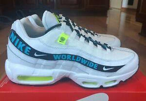 Nike Air Max 95 SE Worldwide White Blue Fury CT0248 100 Men's Size 11 - B GRADE