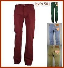 levi's 501 jeans levis uomo pantaloni w30 w31 w32 w33 regular fit gamba dritta