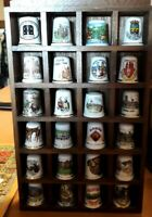 Large Selection of Vintage Collectable Topographical Thimbles - Pick Your Own!