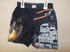 BOYS SIZE 5 STAR WARS DISNEY BLACK STORMTROOPERS DARTH VADER SWIMSUIT NEW #3546