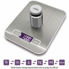1G-10Kg Digital LCD Electronic Scales Weighing Household Kitchen Food Cooking UK
