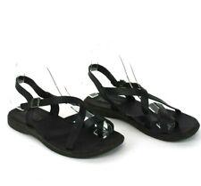 Kork Ease Black Myrna Comfort Leather Sandals Low Flat Sandals US 7 EU 38