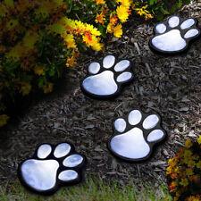"Nice Lights 4 Print Solar Animal Garden Paw LED Dog Path 3"" Lantern Light Lamp"