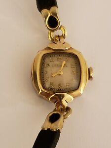 Antique Working 1949  Bulova Fancy Deco 10KT R.G.P Gold GF 17J Ladies Watch 7AD