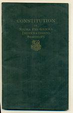 Constitution of Sigma Phi Gamma International Sorority, revised edition 1946