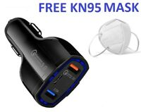 3.5 Amp 3-Port Fast Car Charger for Apple iPhone 12 12 Pro Max iPad - Free Mask