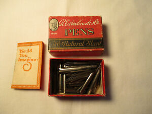 Vintage Lot of Esterbrook Pen Nibs No. 761 w/ Original Box & Booklet