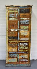 Reclaimed Timber Sideboard Cabinet Multi Drawer Storage Tall Boy Country Retro