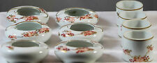 Fukagawa Arita Porcelain Maple Leaf Napkin Rings and Ashtray 10 Pieces