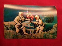 Vintage Vari-Vue Post Card Astronauts on Moon Apollo 11 3D Stereo Lenticular