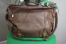 BCBG Max Azria beige convertible RURAL satchel bag purse
