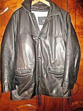 veste en cuir noir vintage REDSKINS-Série limitée Pascal Obispo-Taille M
