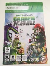 PLANTS VS ZOMBIES GARDEN WARFARE (Full Game Download Card) XBOX 360