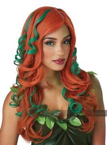 Wavy Auburn Woodland Fairy Little Ariel Mermaid Poison Ivy Costume Accessory Wig