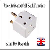Voice Activated Wireless GSM Spy Bug SIM Mains Adapter Plug Surveillance Adaptor